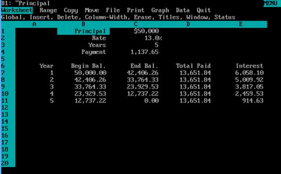 Lotus 123 dla DOS