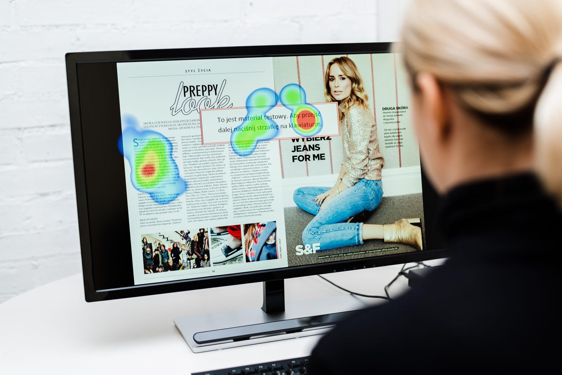 Reklama prasowa – badanie eyetrackingowe